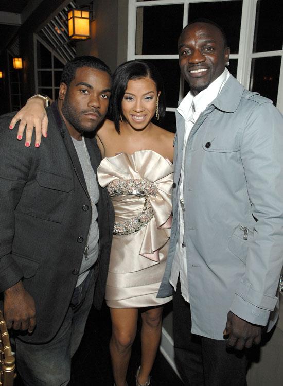 Rodney Jerkins, Keyshia Cole and Akon // Vanity Fair & Krug Dinner