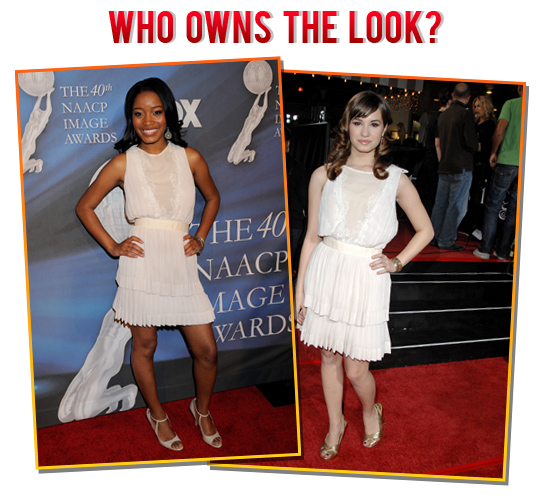 Who owns the look? Keke Palmer or Demi Lovato?