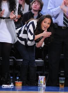 Adrienne Bailon // New York Knicks vs. Philadelphia 76ers basketball game (Feb. 27th 2009)