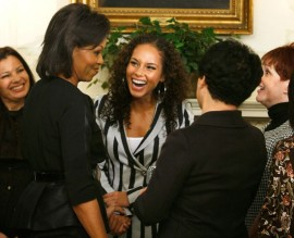Michelle Obama, Alicia Keys & Debra Lee // Meeting at the White House with the First Lady