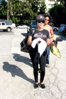 "Lil Kim going to rehearsals for ""Dancing with the Stars\"" in Los Angeles (Mar. 25th 2009)"