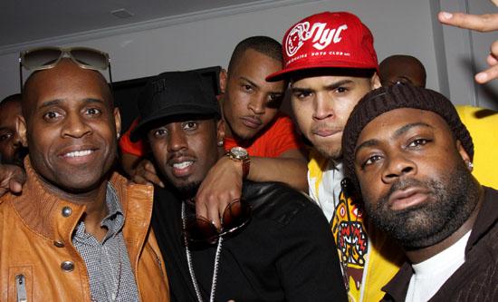 Diddy, T.I., Chris Brown and Breyon Prescott