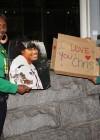Chris Brown Fans outside of LA Superior Court // Chris Brown's Arraignment (Mar. 5th 2009)