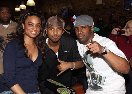 """Claudia Jordan, Juelz Santana & JD Whoo Kid // """"Bowling With the Stars"""" event at Harlem Lanes"""
