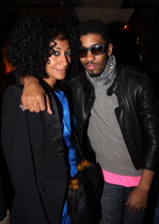 Tracee Ellis Ross & Fonzworth Bentley // Damon Peruzzi\'s birthday party in LA