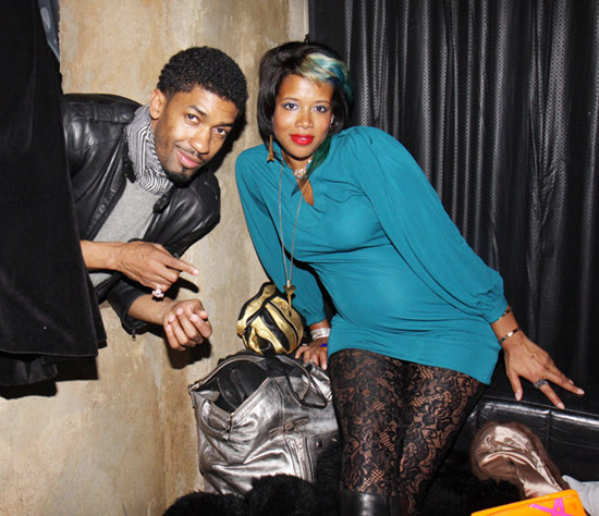Fonzworth Bentley & Kelis // Damon Peruzzi\'s birthday party in LA