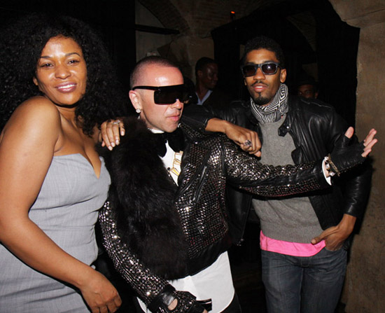 DJ Beverly Bond, Damon Peruzzi & Fonzworth Bentley // Damon Peruzzi\'s birthday party in LA