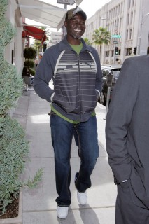 Djimon Honsou // Out & About in Los Angeles (Mar. 4th 2009)