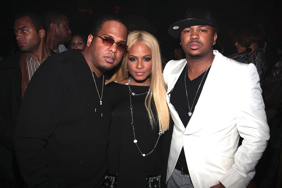 Tricky Stewart, Christina Milian and The Dream // The Dream's Black Tie Album Release Party in NY