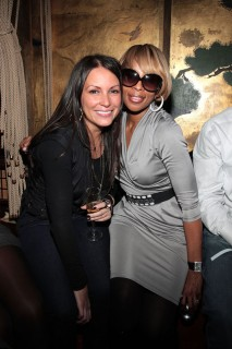 Angie Martinez & Mary J. Blige // The Dream\'s Black Tie Album Release Party in NY