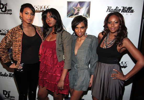 "Female cast of BET's ""Harlem Heights"" // The Dream's Black Tie Album Release Party in NY"