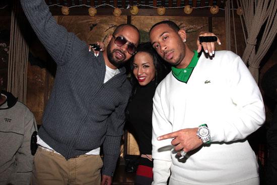 Kenny Burns, Elektrik Red (minus 4) & Ludacris // The Dream\'s Black Tie Album Release Party in NY