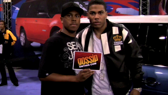 Gossip On This' founder & editor-in-charge Dustin Gary & Nelly // 2009 CIAA Ford Fan Experience in Charlotte, NC