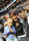 Lil Rocko, Monica and Rocko // Hawks vs. Lakers Game (Mar. 29th 2009)
