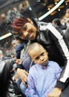 Monica and Lil Rocko // Hawks vs. Lakers Game (Mar. 29th 2009)