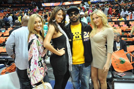 Polow Da Don // Hawks vs. Lakers Game (Mar. 29th 2009)