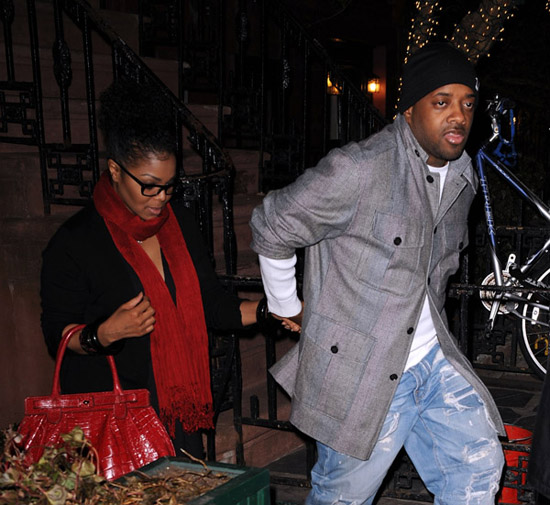 Janet Jackson & Jermaine Dupri leaving The Waverly Inn (Mar. 25th 2009)