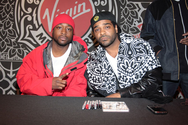 "Jim Jones & Freekey Zekey // ""Pray IV Reign"" album signing at the Virgin Megastore in NYC"