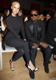 Amber Rose & Kanye West // Saint Laurent Ready-to-Wear Fashion Show