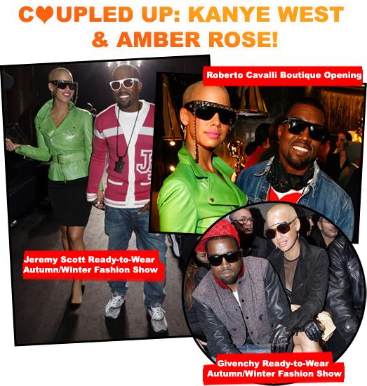 COUPLED UP: KANYE WEST & AMBER ROSE!