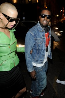 Amber Rose & Kanye West // Roberto Cavalli opening boutique party