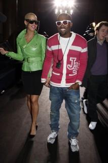 Amber Rose & Kanye West // Jeremy Scott Ready-to-Wear Autumn/Winter 2009 fashion show