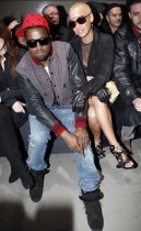 Kanye West & Amber Rose // Givenchy Ready-to-Wear Autumn/Winter 2009 fashion show