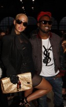 Amber Rose & Kanye West // Givenchy Ready-to-Wear Autumn/Winter 2009 fashion show