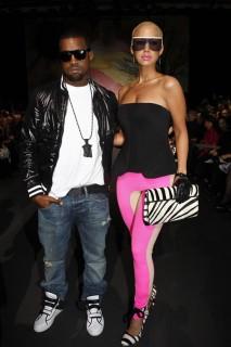 Kanye West & Amber Rose // Stella McCartney Ready-to-Wear Fashion Show (Paris Fashion Week 2009)