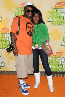 Jermaine Dupri & his daughter // 2009 Kids Choice Awards Red Carpet
