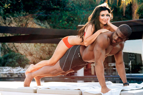 Kim Kardashian & Reggie Bush // April 2008 GQ Magazine