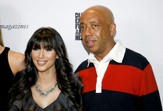 Kim Kardashian & Russell Simmons