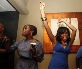 Estelle & Letoya Luckett // Letoya Lucket\'s birthday party at Bambou in Houston, TX