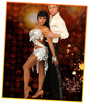 Lil Kim & her dancing partner Derek Hough