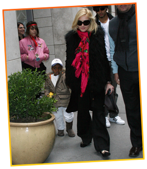 Madonna & David Banda (her first adopted African son)