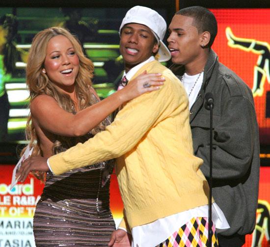 Mariah Carey, Nick Cannon and Chris Brown