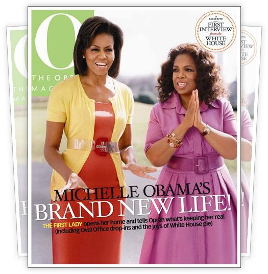 oprah winfrey magazine. Oprah Winfrey amp; Michelle Obama
