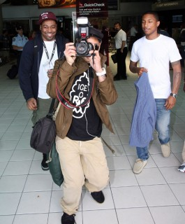 Shay Haley, Chad Hugo and Pharrell Williams of N.E.R.D. at Perth Airport in Australia (Mar. 1st 2009)