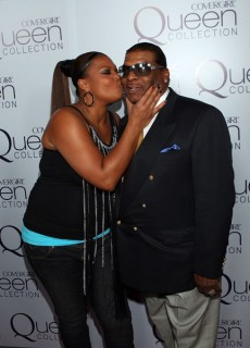 Queen Latifah and her dad Lance Owens // Queen Latifah\'s 39th birthday party in Hollywood