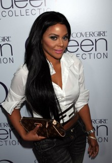 Lil Kim // Queen Latifah\'s 39th birthday party in Hollywood