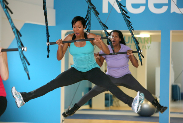 "Regina King trying Reebok's ""Jukari Fit to Fly Workout"" in LA"
