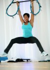"Regina King trying Reebok's ""Jukari Fit to Fly Workout"" in LA"