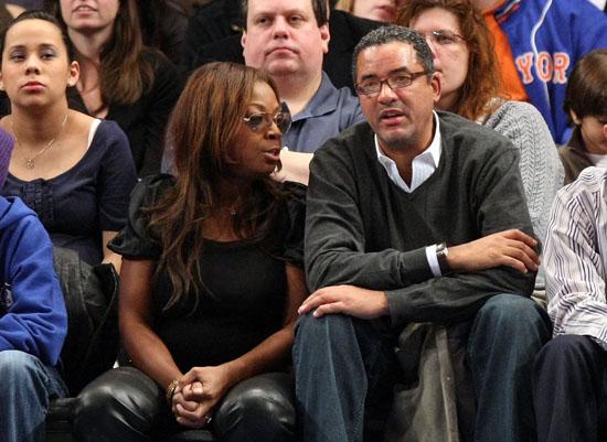 Star Jones & Herb Wilson // Knicks vs. Bobcats basketball game in New York