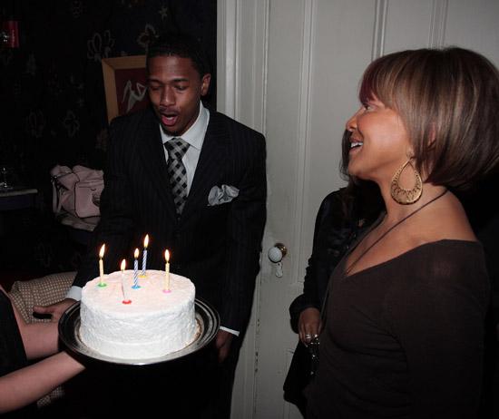 Nick Cannon & Sylvia Rhone // Sylvia Rhone's surprise birthday party at Norwood
