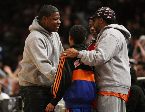 Tracy Morgan & Spike Lee // Knicks vs. Bobcats basketball game in New York