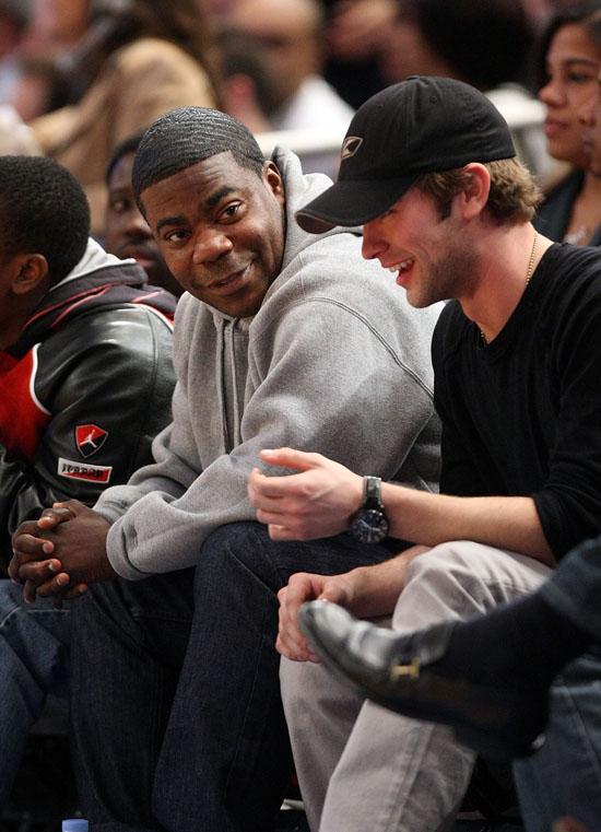 Tracy Morgan & Chase Crawford // Knicks vs. Bobcats ...