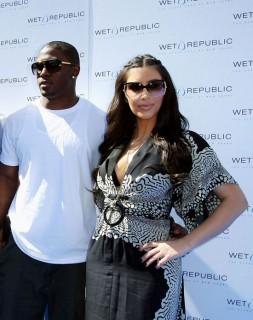 Reggie Bush & Kim Kardashian // Wet Republic event in Vegas