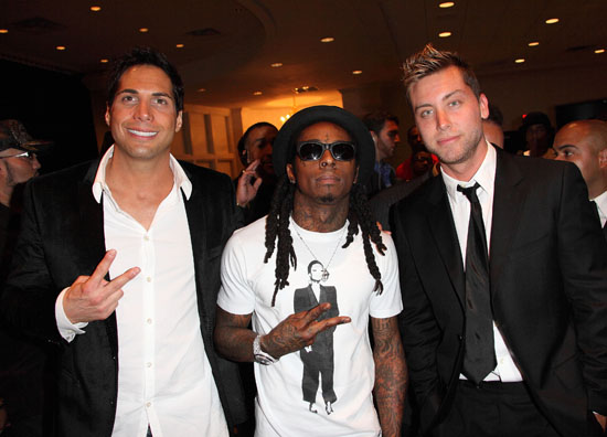 Joe Francis, Lil Wayne and Lance Bass // The Blacks' Annual Gala