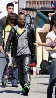 Apl.de.ap on the set of new Black Eyed Peas music video (Apr. 18th 2009)