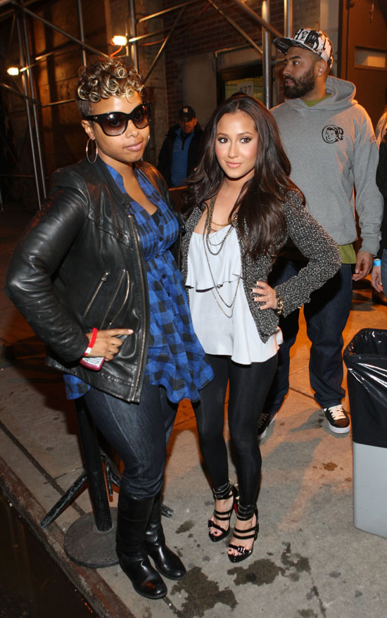 Chrisette Michele & Adrienne Bailon outside the Jadakiss show in NYC (Apr. 8th 2009)